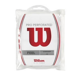 Wilson Pro Overgrip Perforated White 12-pack