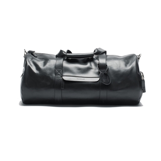 HILDEBRAND Leather Duffle Black Padel/Weekend